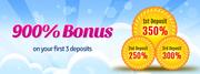 Win 900% Deposit Bonus on Bingo Online Games
