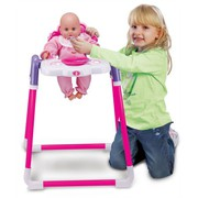 Baby Doll Childrens Kids Pretend Play Feeding High Chair With Doll Toy