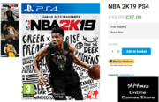 Buy with Best Price the Ultimate Edition NBA 2K19 PS4 Video Game